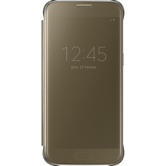 Coque et housse Samsung Etui Clear View Cover (or) - Samsung Galaxy S7
