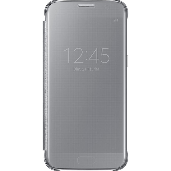 Coque et housse Samsung Etui Clear View Cover (argent) - Samsung Galaxy S7