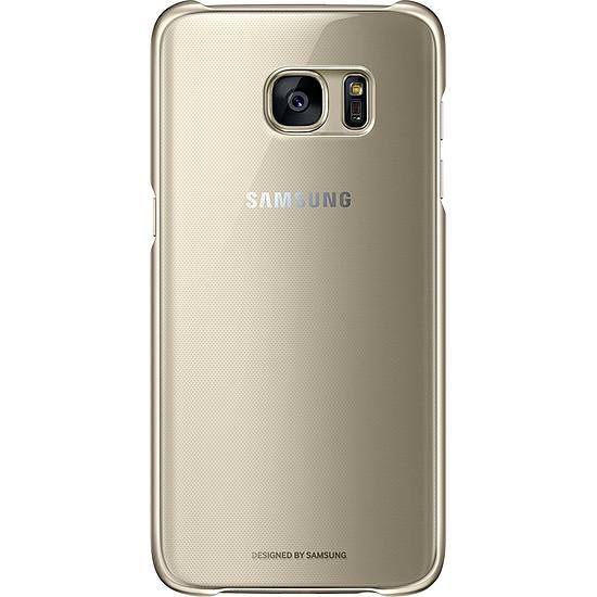 Coque et housse Samsung Coque transparente (or) - Galaxy S7 Edge