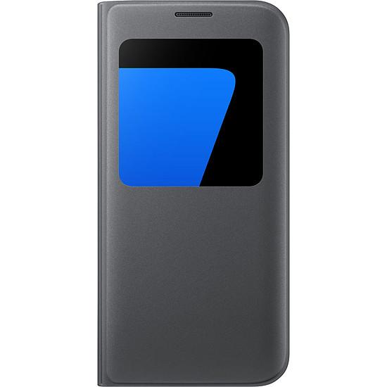 Coque et housse Samsung Etui S View Cover (noir) - Galaxy S7 Edge
