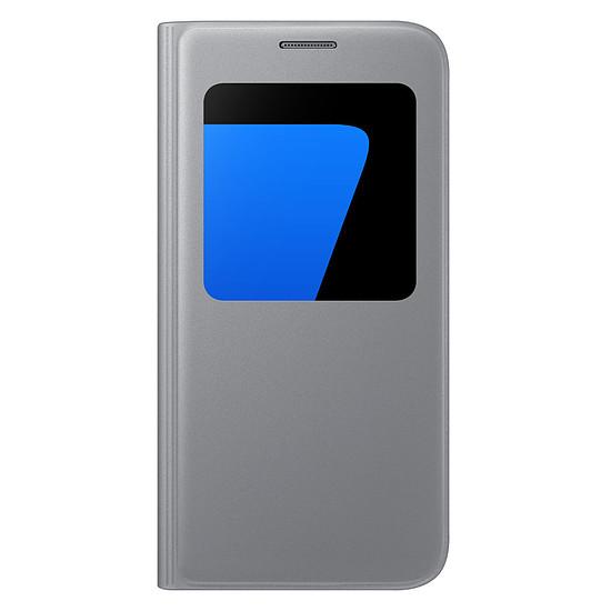 Coque et housse Samsung Etui S View Cover (argent) - Galaxy S7 Edge