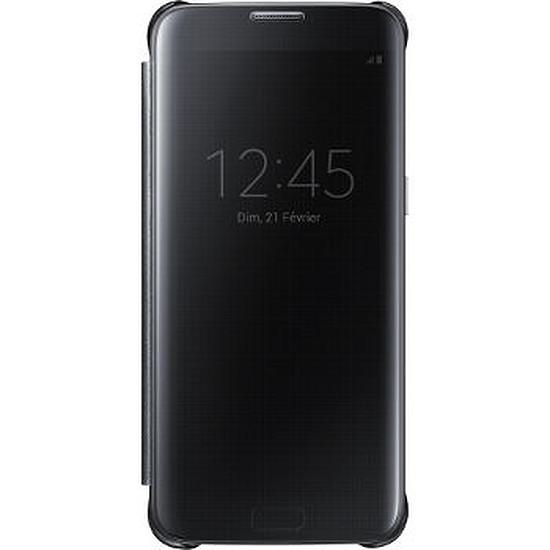 Coque et housse Samsung Etui Clear View Cover (noir) - Galaxy S7 Edge