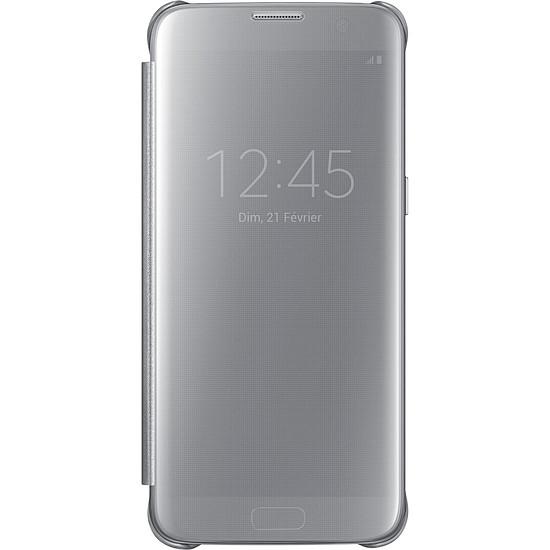 Coque et housse Samsung Etui Clear View Cover (argent) - Galaxy S7 Edge