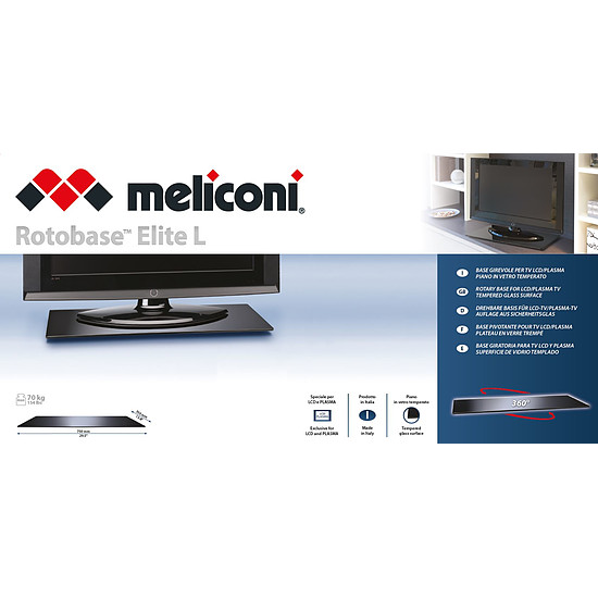Support TV Meliconi Plateau Rotabase Elite L - Autre vue