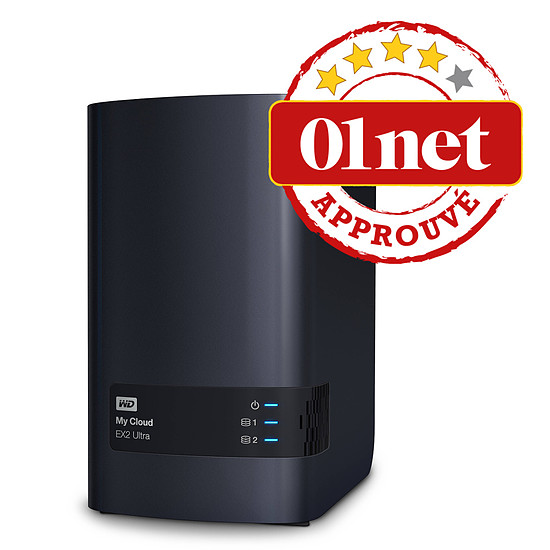 Serveur NAS Western Digital (WD) NAS My Cloud EX2 Ultra - 8 To (2 x 4 To WD) - Autre vue