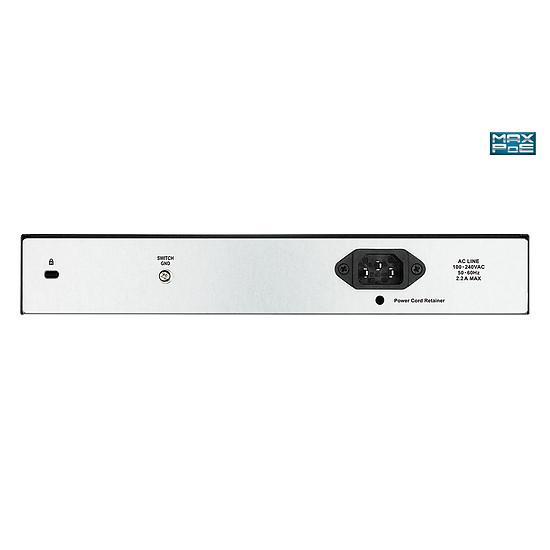 Switch et Commutateur D-Link DGS-1100-10MP - switch 8 ports PoE+ - Autre vue