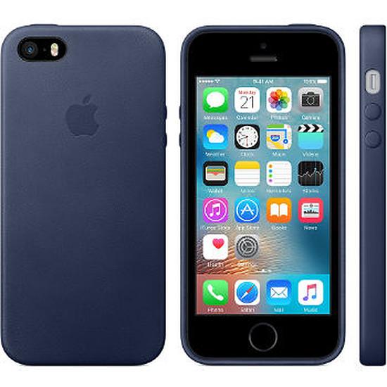 Coque et housse Apple Coque iPhone SE/5s Case - cuir Bleu