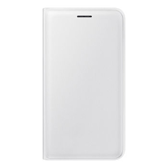 Coque et housse Samsung Flip Wallet Cover (blanc) - Galaxy J1 2016