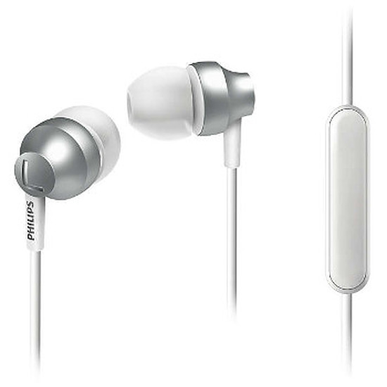 Casque Audio Philips SHE3855 Silver Blanc