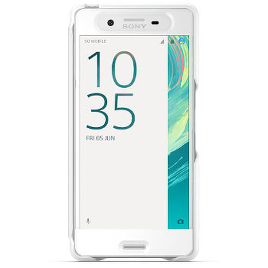 Coque et housse Sony Mobile Style cover touch (blanc)- Xperia X