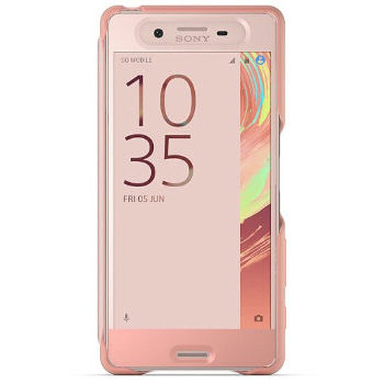 Coque et housse Sony Mobile Style cover touch (rose)- Xperia X