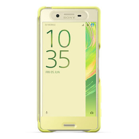 Coque et housse Sony Mobile Style cover touch (jaune)- Xperia X