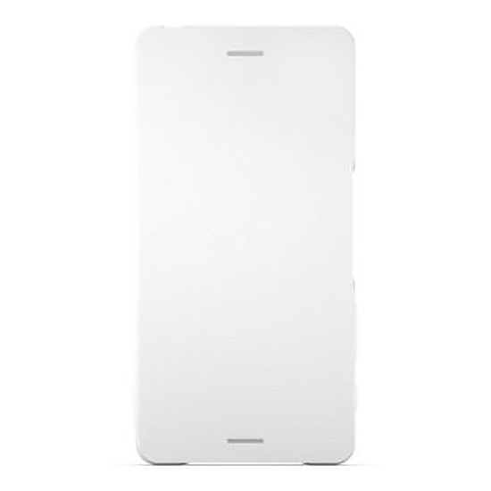 Coque et housse Sony Mobile Style cover flip (blanc)- Xperia X