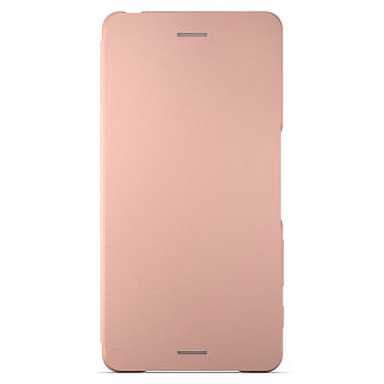 Coque et housse Sony Mobile Style cover flip (rose)- Xperia X