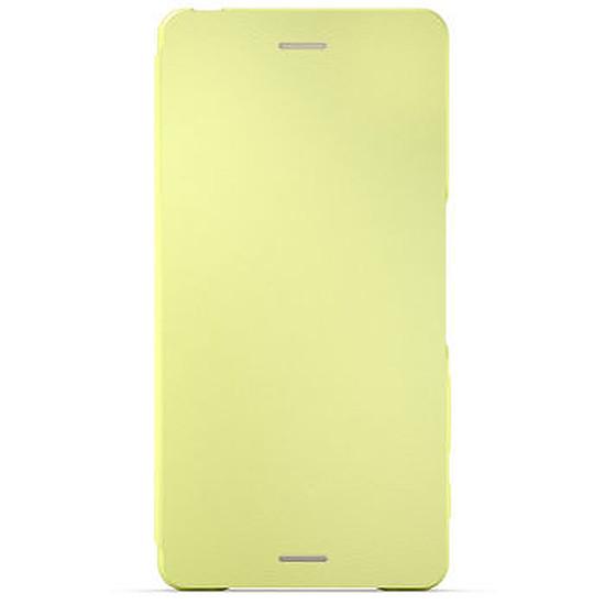 Coque et housse Sony Mobile Style cover flip (jaune)- Xperia X