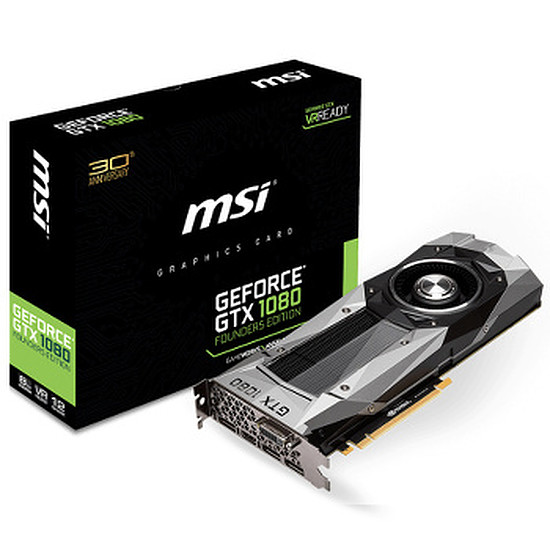Carte graphique MSI GeForce GTX 1080 Founders Edition - 8 Go