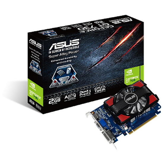 Carte graphique Asus GeForce GT 730 - 2 Go (DDR3)