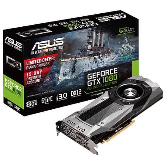 Carte graphique Asus GeForce GTX 1080 Founders Edition - 8 Go