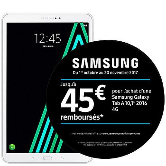 """Tablette Samsung Galaxy Tab A 2016 10.1"""" 16Go 4G - Blanc"""
