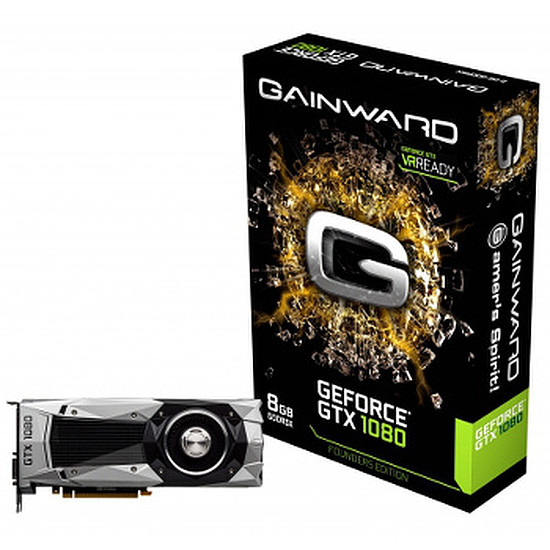 Carte graphique Gainward GeForce GTX 1080 Founders Edition - 8 Go