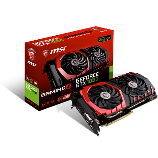 Carte graphique MSI GeForce GTX 1080 Gaming X - 8 Go
