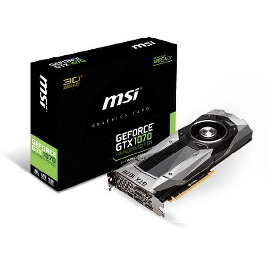 Carte graphique MSI GeForce GTX 1070 Founders Edition - 8 Go
