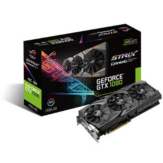 Carte graphique Asus GeForce GTX 1080 STRIX OC - 8 Go