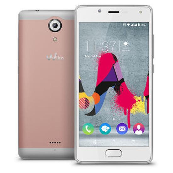 Smartphone et téléphone mobile Wiko Ufeel Lite (or rose / argent)