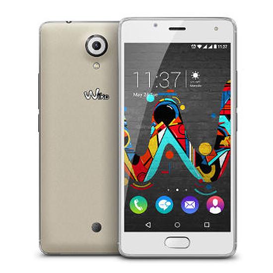 Smartphone et téléphone mobile Wiko Ufeel (blanc / argent)
