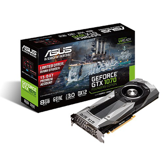 Carte graphique Asus GeForce GTX 1070 Founders Edition - 8 Go
