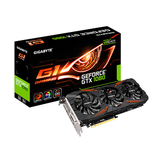 Carte graphique Gigabyte GeForce GTX 1080 G1 Gaming - 8 Go