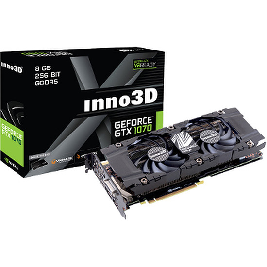 Carte graphique Inno3D GeForce GTX 1070 Twin X2 V2 - 8 Go