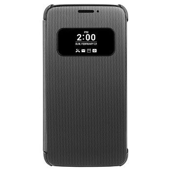 Coque et housse LG Etui Quick cover (titane) - LG G5