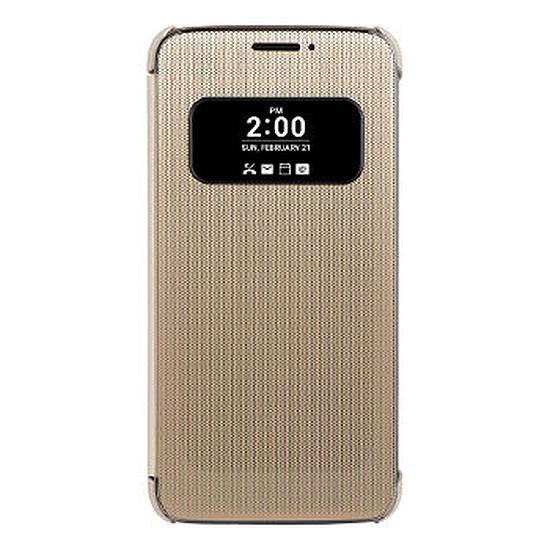 Coque et housse LG Etui Quick cover (or) - LG G5