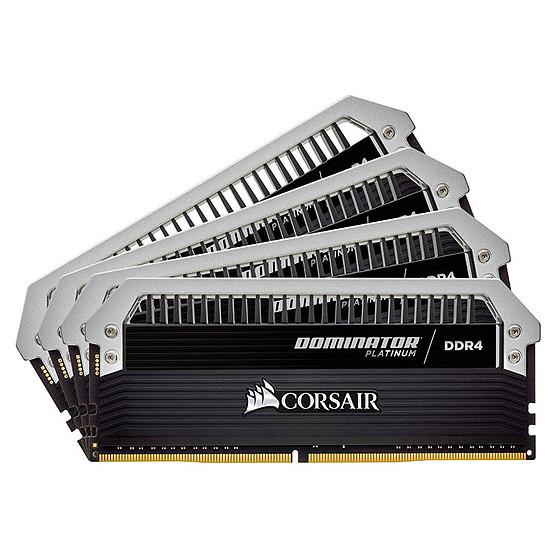 Mémoire Corsair Dominator Platinum DDR4 4 x 16 Go 3000 MHz CAS 15
