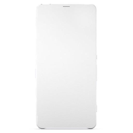 Coque et housse Sony Mobile Style cover flip (blanc)- Xperia XA