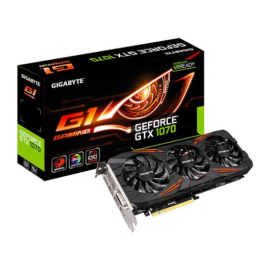 Carte graphique Gigabyte GeForce GTX 1070 G1 Gaming - 8 Go