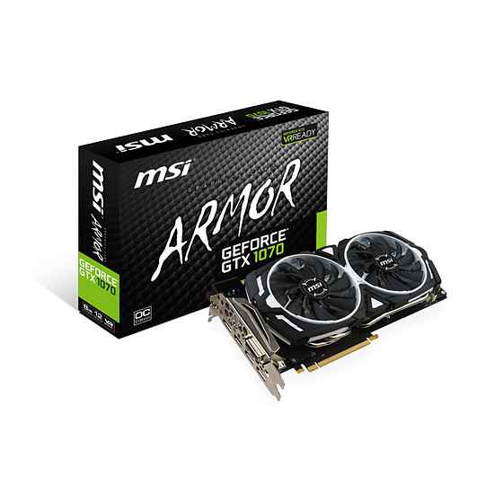 Carte graphique MSI GeForce GTX 1070 Armor OC - 8 Go