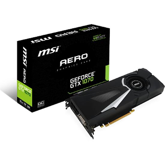 Carte graphique MSI GeForce GTX 1070 Aero OC - 8 Go