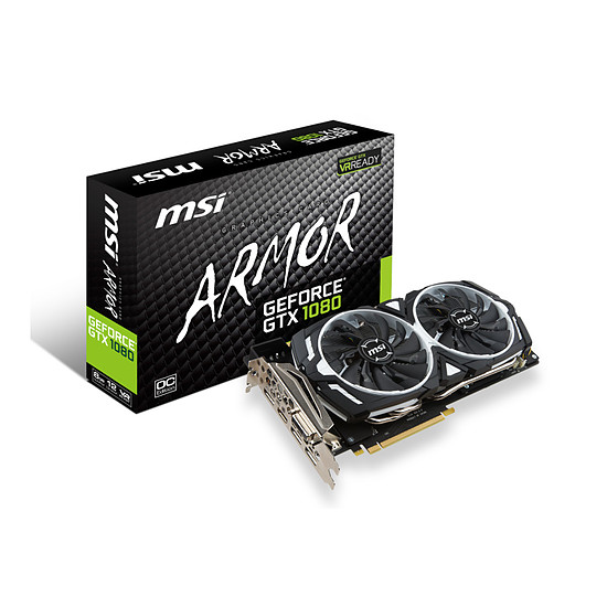 Carte graphique MSI GeForce GTX 1080 Armor OC - 8 Go