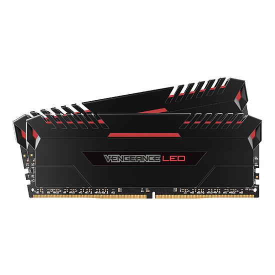 Mémoire Corsair Vengeance LED RED DDR4 2 x 8 Go 2666 MHz CAS 16