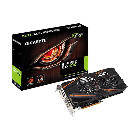 Carte graphique Gigabyte GeForce GTX 1070 WindForce OC - 8 Go