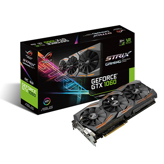 Carte graphique Asus GeForce GTX 1060 STRIX OC - 6 Go