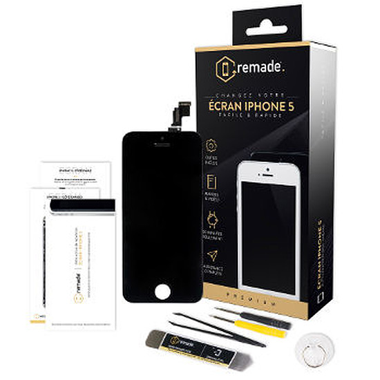 Autres accessoires Remade Kit de réparation écran (noir) - iPhone 5