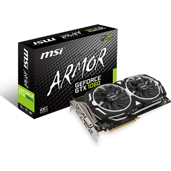 Carte graphique MSI GeForce GTX 1060 Armor OC - 6 Go