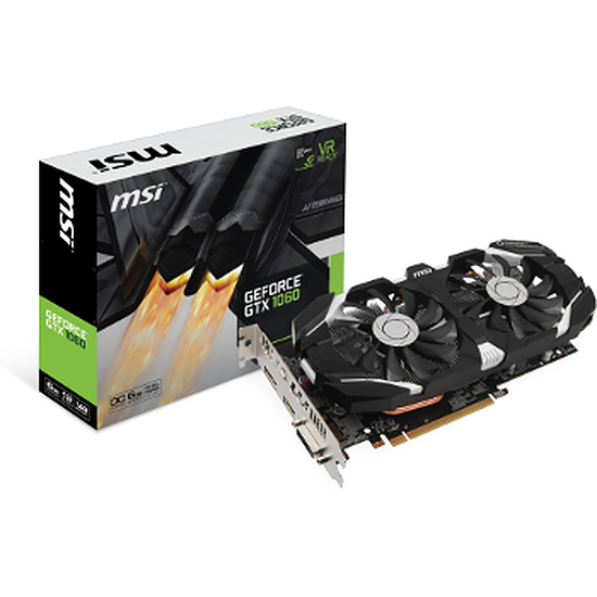 Carte graphique MSI GeForce GTX 1060 6GT OC - 6 Go