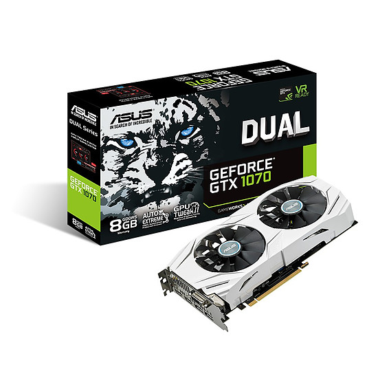 Carte graphique Asus GeForce GTX 1070 Dual - 8 Go