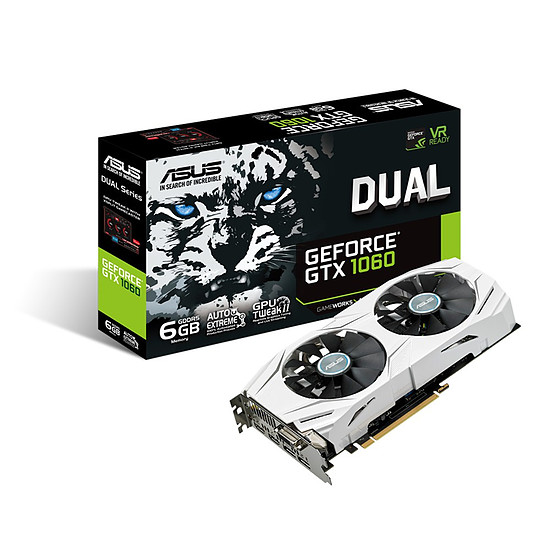 Carte graphique Asus GeForce GTX 1060 Dual - 6 Go