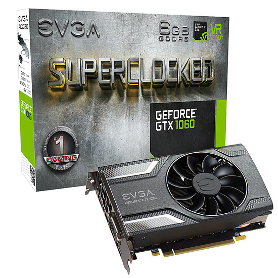Carte graphique EVGA GeForce GTX 1060 SC Gaming - 6 Go