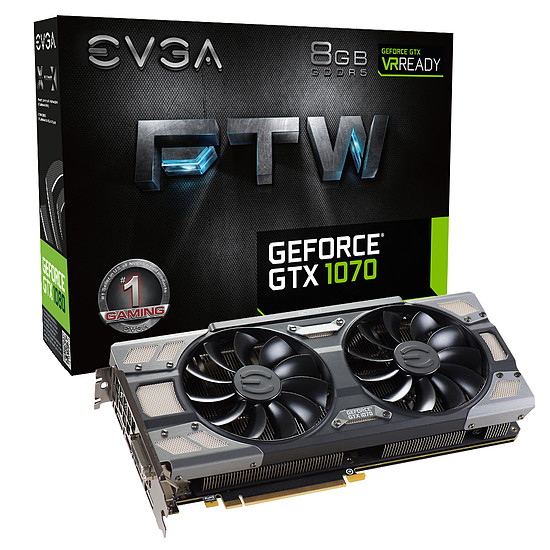 Carte graphique EVGA GeForce GTX 1070 FTW Gaming ACX 3.0 - 8 Go